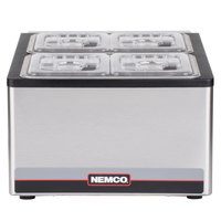 Nemco 9010 Refrigerated Two Well Cold Condiment Station - 120V