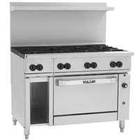 Vulcan 48C-8BN Endurance Natural Gas 8 Burner 48 inch Range with Convection Oven and 12 inch Cabinet Base - 275,000 BTU