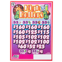 High Rollers 3 Window Pull Tab Tickets - 2548 Tickets Per Deal - Total Payout: $1990