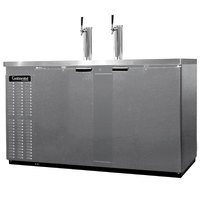 Continental Refrigerator KC69S-SS 69 inch Stainless Steel Shallow Depth Beer Dispenser - 3 Keg Capacity