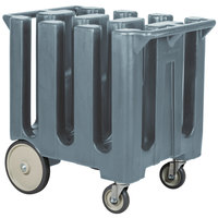 Cambro DC700401 Slate Blue Poker Chip Dish Dolly / Caddy with Vinyl Cover - 6 Column