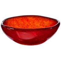 Cardinal Arcoroc FG943 Tiger 16 oz. Red Glass Free Form Bowl - 5/Case