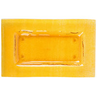 Cardinal Arcoroc FG938 Tiger 10 inch x 6 inch Gold Glass Rectangular Plate - 16/Case
