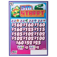 5th Street 3 Window Pull Tab Tickets - 2548 Tickets Per Deal - Total Payout: $1990