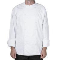 Mercer M62010WHL Renaissance Men's 44 inch Large White Double Breasted Scoop Neck Jacket