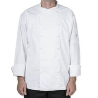 Mercer M62010WH5X Renaissance Men's 64 inch 5X White Double Breasted Scoop Neck Jacket