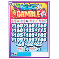 Galaxy Gamble 3 Window Pull Tab Tickets - 2548 Tickets Per Deal - Total Payout: $1990