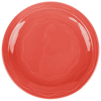 Syracuse China 903034011 Cantina 10 1/4 inch Cayenne Carved Porcelain Round Plate - 12/Case