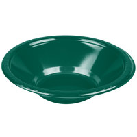 Creative Converting 28312451 12 oz. Hunter Green Plastic Bowl - 240 / Case