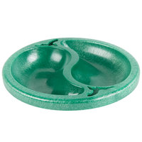 HS Inc. HS1070 Chile Doble 9 oz. Green Divided Plastic Bowl - 24/Case