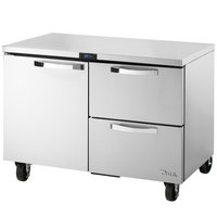 True TUC-48D-2-HC~SPEC1 48 inch Spec Series Undercounter Refrigerator with One Door and Two Drawers