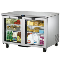 True TUC-48G-HC-LD~SPEC1 48 inch Spec Series Undercounter Refrigerator with Glass Doors