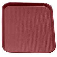 Cranberry Cambro 1014FF416 10 inch x 14 inch Customizable Fast Food Tray 24/Case