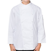Mercer M62040WHXS Renaissance Women's 32 inch XS White Double Breasted Scoop Neck Chef Jacket