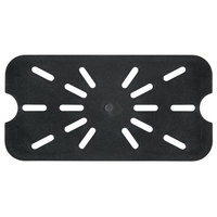 1/4 Size Black Polycarbonate Drain Shelf