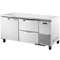 True TUC-67D-2~SPEC1 67 inch Spec Series Undercounter Refrigerator with One Door and Two Drawers