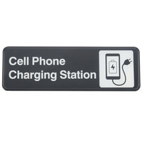 Tablecraft 394565 9 inch x 3 inch Cell Phone Charging Station Sign