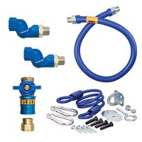 36 inch Dormont 16100KITCF2S Safety Quik Gas Appliance Connector Kit with SwivelMax Deluxe - 1 inch Diameter