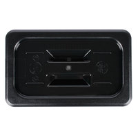 1/4 Size Black Polycarbonate Handled Lid