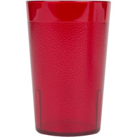 Cambro 800P156 Colorware 7.8 oz. Ruby Red Plastic Tumbler - 72 / Case