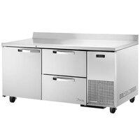 True TWT-67D-2~SPEC1 67 inch Spec Series Extra Deep Worktop Refrigerator with 2 Drawers and 1 Door
