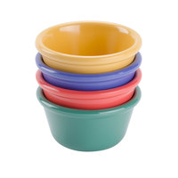 GET RM-400-MIX Diamond Mardi Gras 4 oz. Melamine Ramekin, Assorted Colors - 48/Case