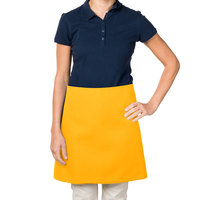 38 inch x 34 inch Gold Poly-Cotton Four Way Waist Apron