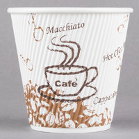Choice 8 oz. Sleeveless Bean Print Paper Hot Cup - 500/Case