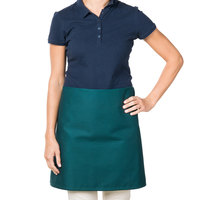 38 inch x 34 inch Hunter Green Poly-Cotton Four Way Waist Apron