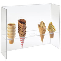 Cal-Mil 394 Five Cone Ice Cream Cone Holder with Sneeze Guard