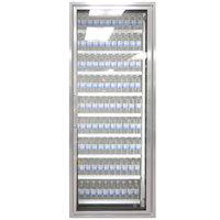 Styleline ML2475-LT MOD//Line 24 inch x 75 inch Modular Walk-In Freezer Merchandiser Door with Shelving - Bright Silver Smooth, Right Hinge