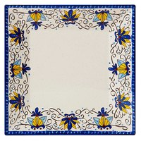 GET ML-91-SL Santa Lucia 14 inch Square Plate - 6 / Pack