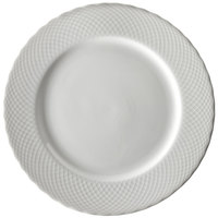 Ten Strawberry Street WW0001 White Wicker 10 3/8 inch Porcelain Dinner Plate   - 24/Case