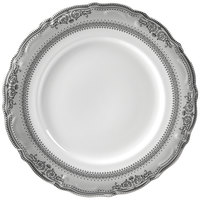 10 Strawberry Street VAN-1P Vanessa 10 3/4 inch Platinum Dinner Plate - 24/Case