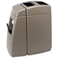 Commercial Zone 75814299 55 Gallon Islander Series Haven 1 Brown Waste Container with Paper Towel Dispenser and Windshield Wash Station
