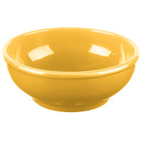 Syracuse China 903044003 Cantina 18 oz. Saffron Uncarved Porcelain Oatmeal Bowl - 12/Case