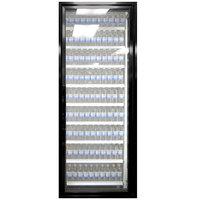 Styleline ML3079-LT MOD//Line 30 inch x 79 inch Modular Walk-In Freezer Merchandiser Door with Shelving - Satin Black Smooth, Right Hinge