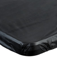 Creative Converting 701000 Stay Put 29 inch x 72 inch Black Plastic Table Cover - 12/Case