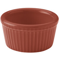 Hall China 38345334 Paprika 4 oz. Colorations Fluted Ramekin - 36/Case