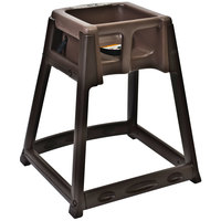 Koala Kare KB866-09 KidSitter Brown Convertible Plastic High Chair with Brown Seat