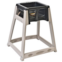 Koala Kare KB888-02 KidSitter Beige Convertible Plastic High Chair with Black Seat
