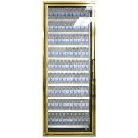 Styleline CL2472-LT Classic Plus 24 inch x 72 inch Walk-In Freezer Merchandiser Door with Shelving - Anodized Bright Gold, Left Hinge