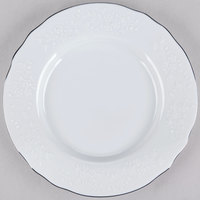 10 Strawberry Street Vine-5SL Vine Silver Line 6 inch Porcelain Bread and Butter Plate - 24/Case