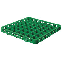 Carlisle RE49C09 OptiClean 49 Compartment Green Color-Coded Glass Rack Extender