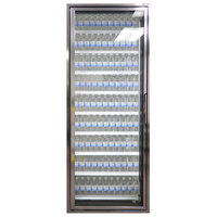 Styleline CL3080-2020 20//20 Plus 30 inch x 80 inch Walk-In Cooler Merchandiser Door with Shelving - Anodized Bright Silver, Left Hinge