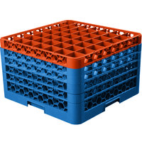 Carlisle RG49-5C412 OptiClean 49 Compartment Orange Color-Coded Glass Rack with 5 Extenders
