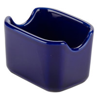 Tuxton BCQ-034 DuraTux 3 1/2 inch Cobalt Sugar Packet Holder - 12/Case