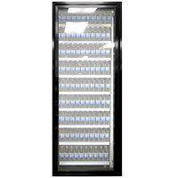 Styleline CL2672-LT Classic Plus 26 inch x 72 inch Walk-In Freezer Merchandiser Door with Shelving - Satin Black, Right Hinge