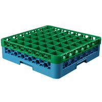 Carlisle RG49-1C413 OptiClean 49 Compartment Green Color-Coded Glass Rack with 1 Extender