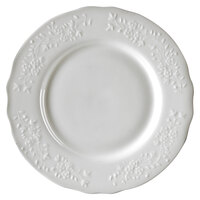 10 Strawberry Street Vine-4SL Vine Silver Line 7 1/2 inch Porcelain Salad/Dessert Plate - 24/Case